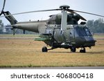 military helicopter   on