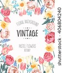 vintage vector background | Shutterstock .eps vector #406804240
