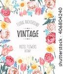 vintage vector background | Shutterstock .eps vector #406804240