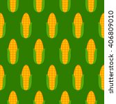green seamless pattern with... | Shutterstock .eps vector #406809010