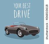 sport car isolated. retro car... | Shutterstock .eps vector #406810618