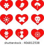 red hearts vectors    Shutterstock .eps vector #406812538