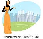 vector illustration of a muslim ...   Shutterstock .eps vector #406814680