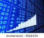 rising statistic | Shutterstock . vector #4068154