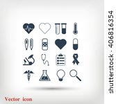 medical icons | Shutterstock .eps vector #406816354