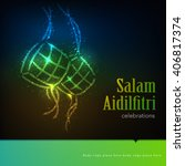 ramadan graphic background.... | Shutterstock .eps vector #406817374