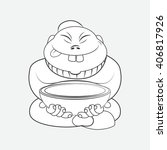 line drawing cartoon chinese...   Shutterstock .eps vector #406817926
