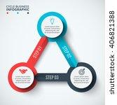vector infographic design... | Shutterstock .eps vector #406821388