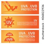 uv protection banner vector ....