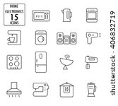 set home electronics icons ... | Shutterstock .eps vector #406832719