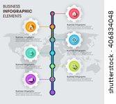 business infographics vector... | Shutterstock .eps vector #406834048