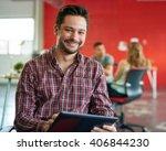 confident male designer working ... | Shutterstock . vector #406844230