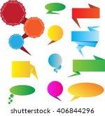flat design of web stickers  ... | Shutterstock .eps vector #406844296