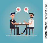 gay first date concept vector... | Shutterstock .eps vector #406845340