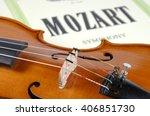 Detail Of Violin As Music...