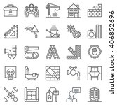 construction theme icon set... | Shutterstock .eps vector #406852696