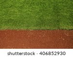 baseball field with copy space. | Shutterstock . vector #406852930