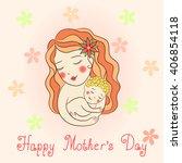 happy mother's day. | Shutterstock .eps vector #406854118