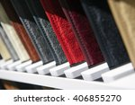 fabric samples in row ...   Shutterstock . vector #406855270
