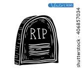 tombstone halloween icon....   Shutterstock .eps vector #406857034