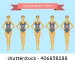 set of female body shape types  ... | Shutterstock .eps vector #406858288