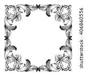 vintage baroque frame scroll... | Shutterstock . vector #406860556