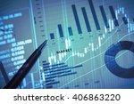 stock market information and...   Shutterstock . vector #406863220
