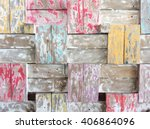 Old Shabby Paint On The Wood...