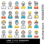 set of people avatars for... | Shutterstock .eps vector #406868590