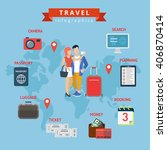 creative world travel tourism... | Shutterstock .eps vector #406870414