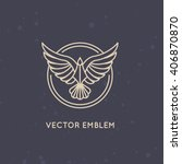 vector linear logo design...   Shutterstock .eps vector #406870870
