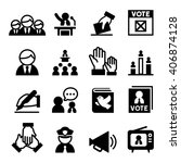 democracy   election  icon | Shutterstock .eps vector #406874128