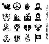peace icon   Shutterstock .eps vector #406874413
