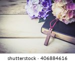 The Wooden Cross And Black...