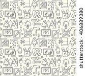 graphic design seamless pattern ...   Shutterstock . vector #406889380