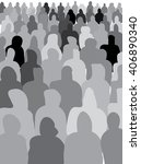 gray crowd | Shutterstock .eps vector #406890340