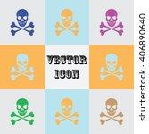 skull and crossbones vector icon   Shutterstock .eps vector #406890640