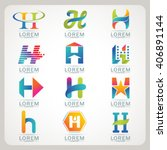 logo letter h element and... | Shutterstock .eps vector #406891144