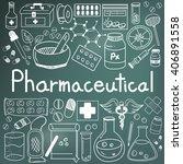 pharmaceutical and pharmacist...   Shutterstock .eps vector #406891558