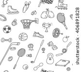 doodle seamless pattern with... | Shutterstock .eps vector #406891828