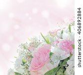 wedding bouquet with roses | Shutterstock . vector #406892884