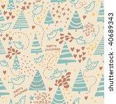 christmas seamless pattern | Shutterstock .eps vector #40689343