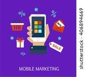 mobile marketing concept art... | Shutterstock .eps vector #406894669