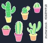 cactus set. vector collection... | Shutterstock .eps vector #406894918