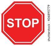 stop sign   | Shutterstock .eps vector #406895779