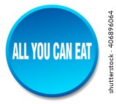 all you can eat blue round flat ... | Shutterstock .eps vector #406896064