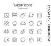 bakery icons. | Shutterstock .eps vector #406897138