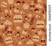 seamless vector pattern with... | Shutterstock .eps vector #406898329