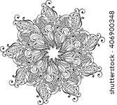mandala coloring anti stress.... | Shutterstock .eps vector #406900348