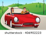 a vector illustration of happy... | Shutterstock .eps vector #406902223